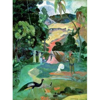 - Quadro -Matamoe or, Landscape with Peacocks- - Gauguin, Paul