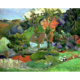 - Quadro -Landscape at Pont Aven, 1888- - Gauguin, Paul