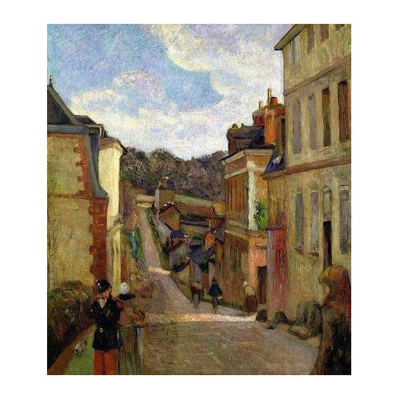 pinturas de paisagens - Quadro -A Suburban Street, 1884-