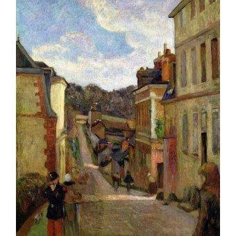 quadros de paisagens - Quadro -A Suburban Street, 1884- - Gauguin, Paul