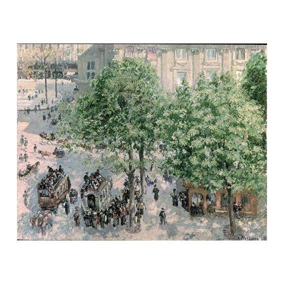 pinturas de paisagens - Quadro -Place du Theatre-Francais, Spring, 1898-