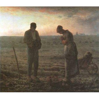 pinturas de retratos - Quadro -El Angelus, 1857-1859- - Millet, Jean François
