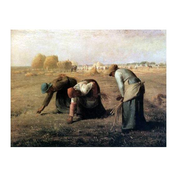pinturas de paisagens - Quadro -Des Glaneuses, 1857-