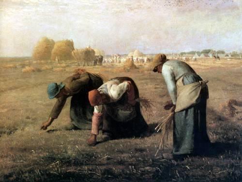 quadros-de-paisagens - Quadro -Des Glaneuses, 1857- - Millet, Jean François