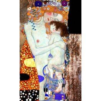pinturas de retratos - Quadro -As Três Idades da vida (detalhe)- - Klimt, Gustav