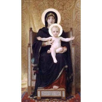 quadros religiosos - Quadro -La Virgen sentada- - Bouguereau, William
