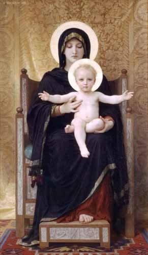 quadros-religiosos - Quadro -La Virgen sentada- - Bouguereau, William