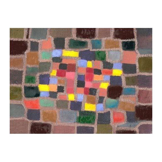 pinturas abstratas - Quadro -Abstracto _ Laberinto y desnivel (I)-