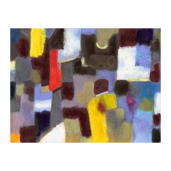 pinturas abstratas - Quadro -Abstracto _ Pareja y urbe (I).-
