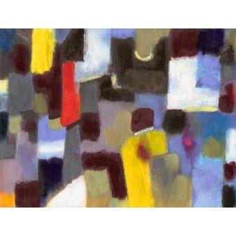 - Quadro -Abstracto _ Pareja y urbe (I).- - Molsan, E.