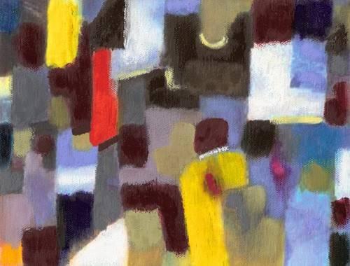 quadros-abstratos - Quadro -Abstracto _ Pareja y urbe (I).- - Molsan, E.