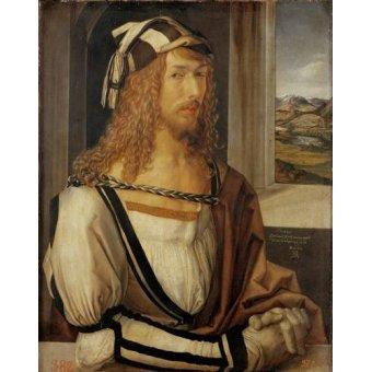 pinturas de retratos - Quadro -Autoretrato (I)- - Dürer, Albrecht (Albert Durer)