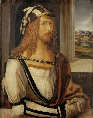 pinturas-de-retratos - Quadro -Autoretrato (I)- - Dürer, Albrecht (Albert Durer)