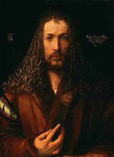 pinturas-de-retratos - Quadro -Autoretrato (II)- - Dürer, Albrecht (Albert Durer)