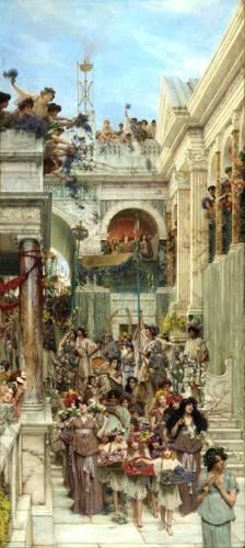 pinturas-de-retratos - Quadro -A Primavera- - Alma-Tadema, Lawrence