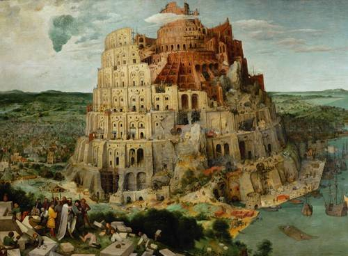religious paintings - Picture -La Tour de Babel- - Bruegel
