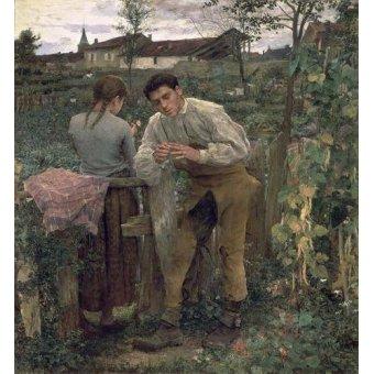 - Quadro -Rural Love, 1882 (oil on canvas).- - Bastien Lepage, Jules