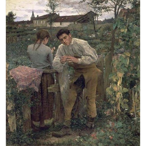 Quadro -Rural Love, 1882 (oil on canvas).-