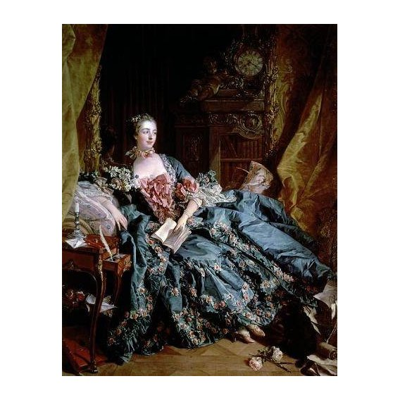 pinturas do retrato - Quadro -Madame de Pompadour-