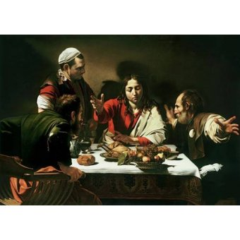quadros religiosos - Quadro -The Supper at Emmaus, 1601- - Caravaggio, Michelangelo M.