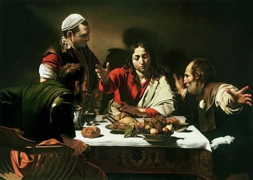 quadros-religiosos - Quadro -The Supper at Emmaus, 1601- - Caravaggio, Michelangelo M.