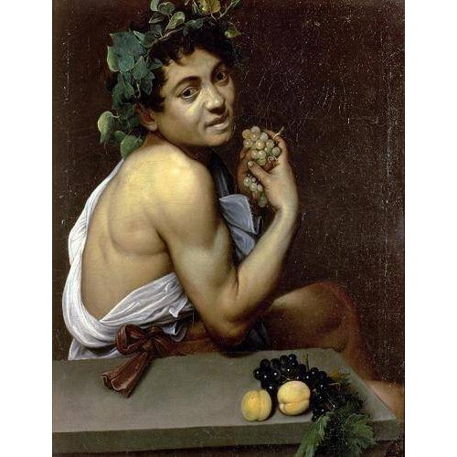 Quadro -The Sick Bacchus, 1591 (oil on canvas).-