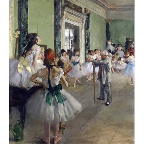 pinturas do retrato - Quadro -The Dancing Class, c.1873-76 (oil on canvas).-