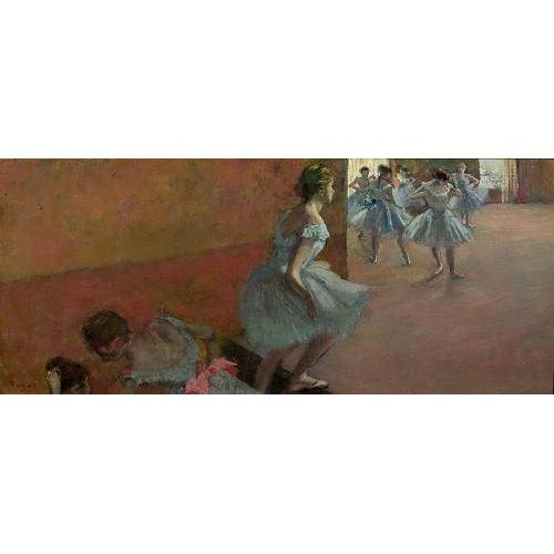 pinturas do retrato - Quadro -Dancers Ascending a Staircase, c.1886-88-