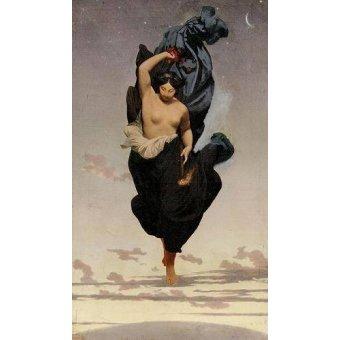 - Quadro -Night, c.1850-55 (oil on canvas).- - Gerome, Jean Leon
