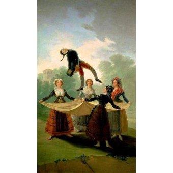 - Quadro -El Pelele (The Puppet) 1791-2 (oil on canvas).- - Goya y Lucientes, Francisco de
