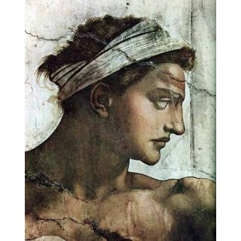 quadros religiosos - Quadro -Voute de la Chapelle Sixtine Couple au dessus- - Buonarroti, Miguel Angel