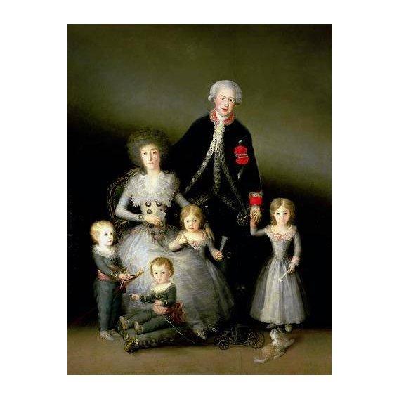 pinturas do retrato - Quadro -El Duque de Osuna y su familia, 1788-