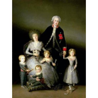 - Quadro -El Duque de Osuna y su familia, 1788- - Goya y Lucientes, Francisco de