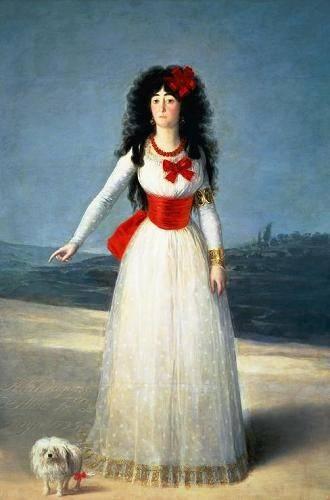 pinturas-de-retratos - Quadro -La Duquesa de Alba, 1795- - Goya y Lucientes, Francisco de