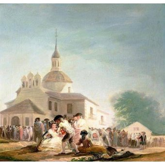 - Quadro -La Ermita de San Isidro, Madrid, 1788- - Goya y Lucientes, Francisco de