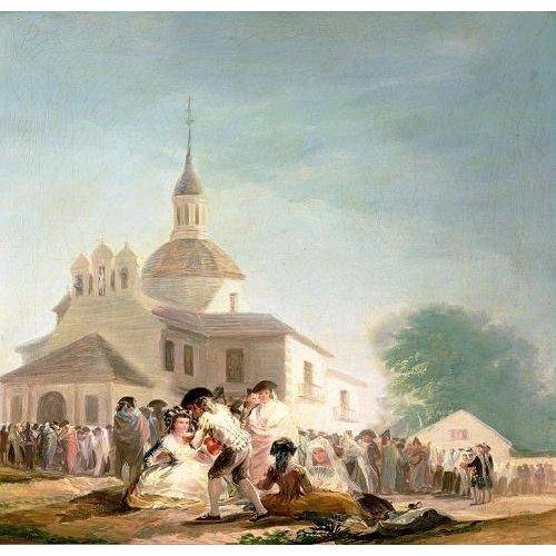 pinturas de paisagens - Quadro -La Ermita de San Isidro, Madrid, 1788-