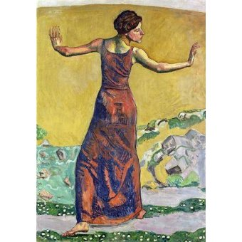 - Quadro -Femme Joyeuse (oil on canvas).- - Hodler, Ferdinand