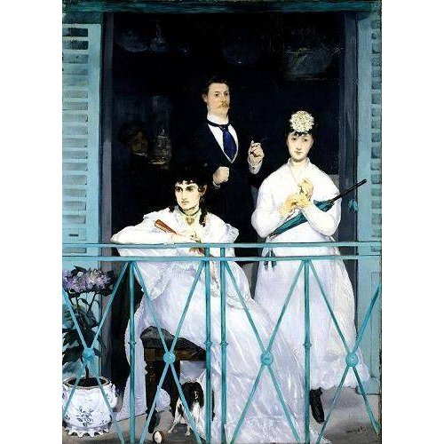 pinturas do retrato - Quadro -The Balcony, 1868-9 (oil on canvas).-
