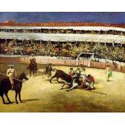Quadro -Bull Fight, 1865 (Corrida de toros).-