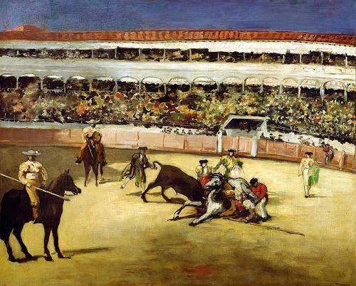 quadros-de-animais - Quadro -Bull Fight, 1865 (Corrida de toros).- - Manet, Eduard