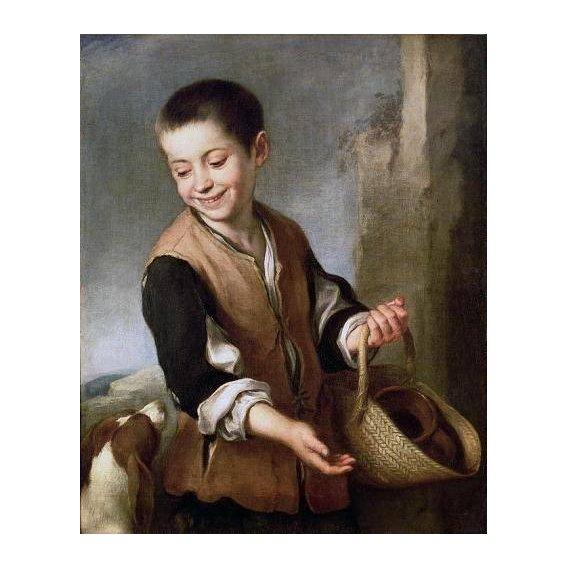 pinturas do retrato - Quadro -Muchacho con un perro, c.1650-