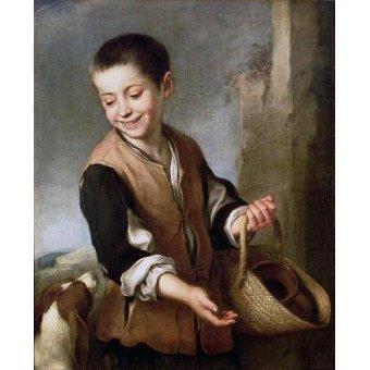 - Quadro -Muchacho con un perro, c.1650- - Murillo, Bartolome Esteban