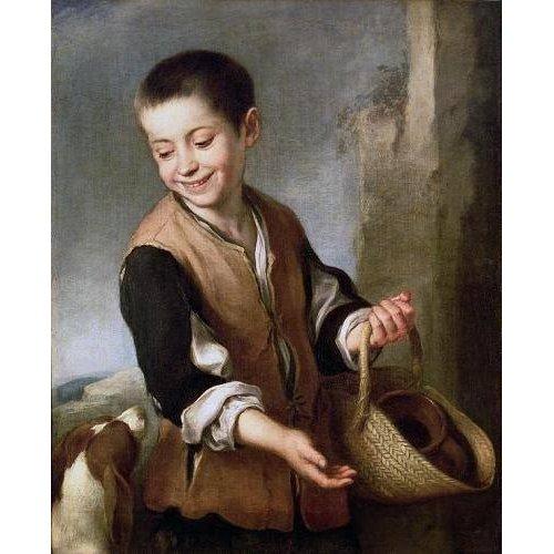 Quadro -Muchacho con un perro, c.1650-