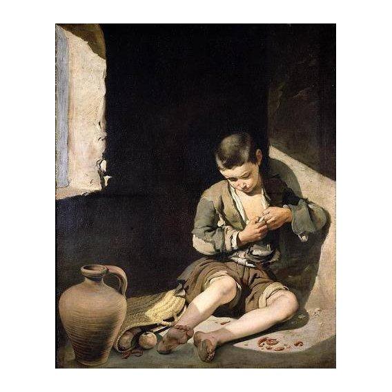 pinturas do retrato - Quadro -El joven mendigo, c 1650-