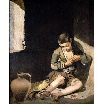 - Quadro -El joven mendigo, c 1650- - Murillo, Bartolome Esteban