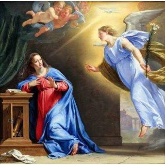 quadros religiosos - Quadro -La Anunciación- - Champaigne, Philippe de