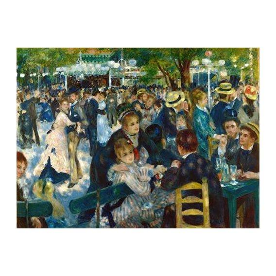 pinturas do retrato - Quadro -Ball at the Moulin de la Galette, 1876-