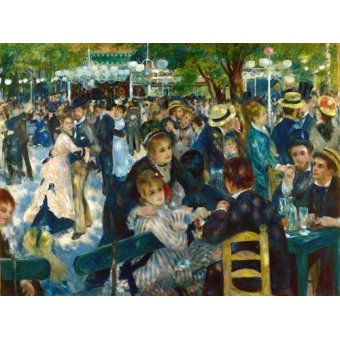 - Quadro -Ball at the Moulin de la Galette, 1876- - Renoir, Pierre Auguste