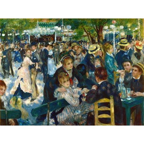 Quadro -Ball at the Moulin de la Galette, 1876-
