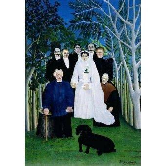 - Quadro -The Wedding Party, 1904-05- - Rousseau, Henri
